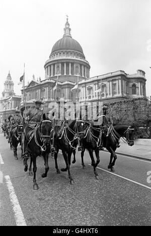 Royalty - Königin Elizabeth II Silver Jubilee - London - Stockfoto