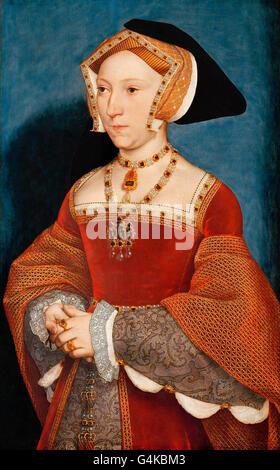 Jane Seymour. Porträt von Jane Seymour (1508-1537), dritte Ehefrau von König Henry VIII von England, von Hans Holbein - Stockfoto