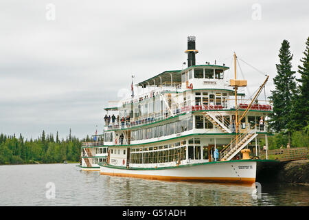 Paddel Rad Riverboat Discovery 3 am Chena River in Fairbanks, AK. - Stockfoto