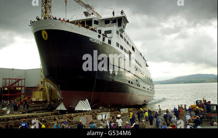 MV Hebriden-Start - Stockfoto