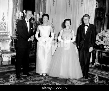 Politik - Präsident John Kennedy Staatsbesuch in UK - Buckingham Palace, London - Stockfoto