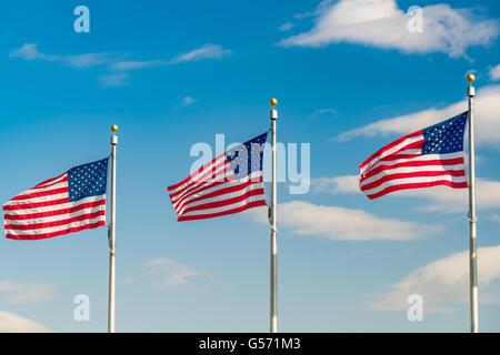 Flaggen der Vereinigten Staaten - Stockfoto