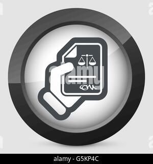 Juristisches Dokument-Symbol - Stockfoto