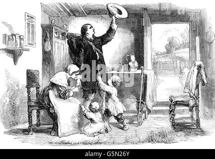 Die Abfahrt nach Salem Insel in Amerika von Roger Williams, ein Puritaner, englischer reformierter Theologe, und - Stockfoto