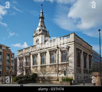 St Nicholas Cole Abbey, Kirche in der City of London; außen - Stockfoto