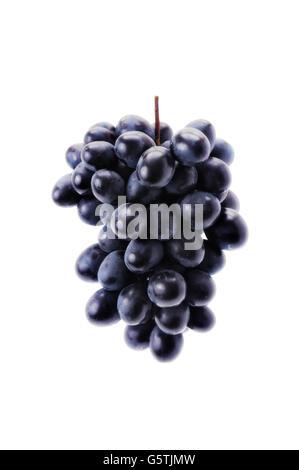 Trauben, die auf einem weißen Hintergrund isoliert - Stockfoto