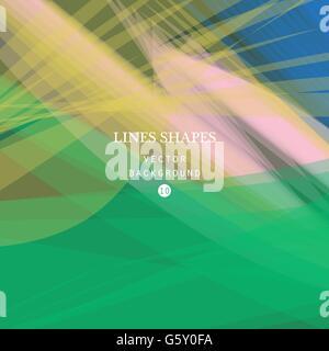 Grüner Hintergrund, grün transparent Welle Linien Vektorformen für Broschüre, Website und Flyer Design Abstrakt. - Stockfoto