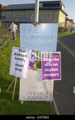 Asyl Suchende Ausschuss protest - Stockfoto