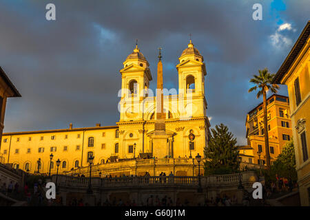 Die spanische Treppe in Rom - Stockfoto