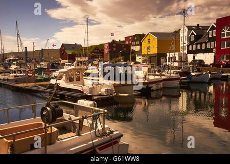 Hafen von Thorshavn, Faroer Inseln - Stockfoto