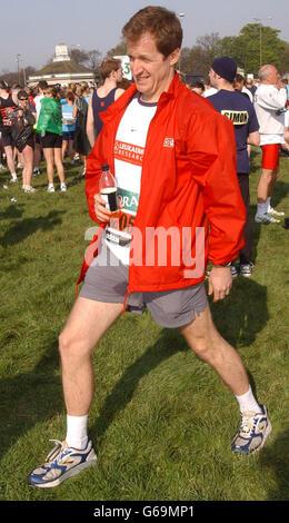 Alastair Campbell - London-Marathon - Stockfoto