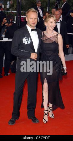 Cannes Sting und Trudie Styler - Stockfoto