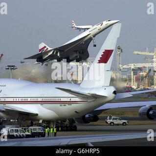 Luft Concorde letzten kommerziellen Flug - Stockfoto