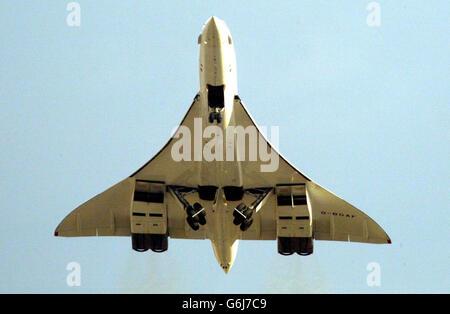 Concorde nimmt ab - Stockfoto