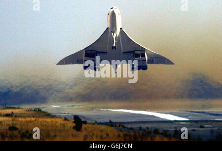 Endgültigen Absprung für Concorde - Stockfoto