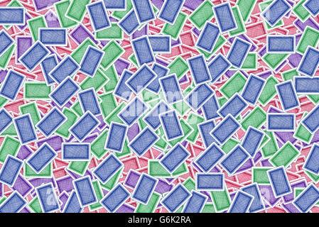 Bunten Spielkarten als Hintergrund - Stockfoto