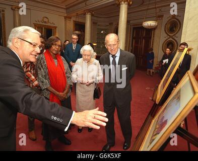 Königin erhält die Kunst der Aborigines - Stockfoto