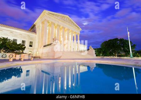 United States Supreme Court Gebäude in Washington DC, USA. - Stockfoto