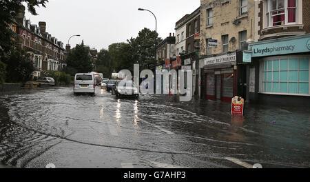 Sommerwetter am 14. August - Stockfoto