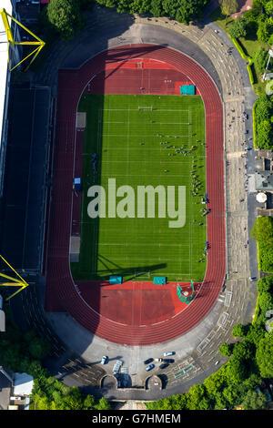 Luftaufnahme, American Football-Stadion Rote Erde Stadion neben dem Signal Iduna Park, Dortmund, Ruhrgebiet, Nord - Stockfoto