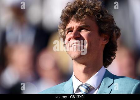 Gustavo Kuerten am 15. Tag der French Open bei Roland Garros am 7. Juni 2015 in Paris, Frankreich