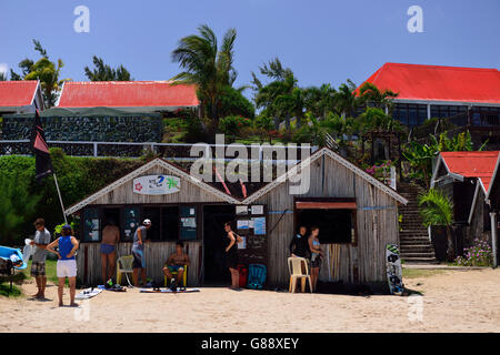 Strand am Hotel Mourouk Ebony, Port du Sud-est, Rodrigues - Stockfoto