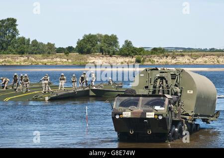 7. Juni 2016 - Chelmno, Polen - US Armee-Reserve-Soldaten mit dem 361. Ingenieur-Unternehmen von Warner Robins, - Stockfoto
