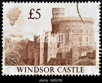 Vereinigtes Königreich - CIRCA 1997: Eine Briefmarke gedruckt in Großbritannien zeigen, Windsor Castle, ca. 1997 - Stockfoto