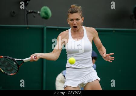 London, UK. 30. Juni 2016. Simona Halep Rumänien die Wimbledon Championships 2016 All England Tennisclub, Wimbledon, - Stockfoto