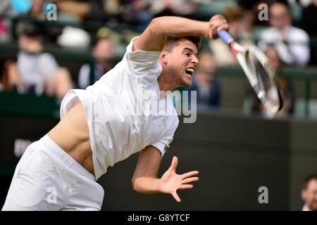 London, UK. 30. Juni 2016. AELTC Tennis Championships in Wimbledon London UK Dominic Thieum AUT in zweite Runde - Stockfoto