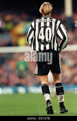 Fußball - FA Carling Premiership - Everton V Newcastle United - Stockfoto