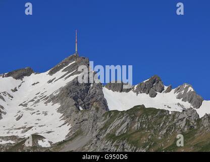 Bergstation auf Mt Santis. Reiseziel in der Schweiz. - Stockfoto