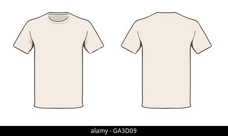 Design Vorlage T Shirt Blank Vektor Abbildung - Bild: 137247636 - Alamy