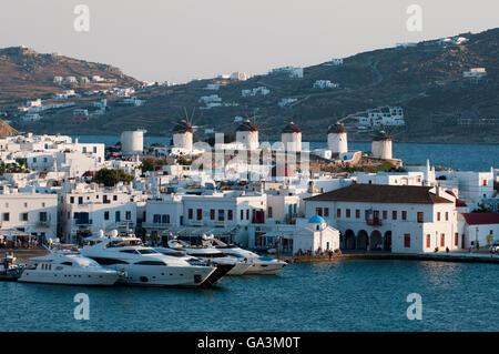 Mykonos-Stadt oder Chora, Mykonos, Kykladen, Griechenland, Europa - Stockfoto
