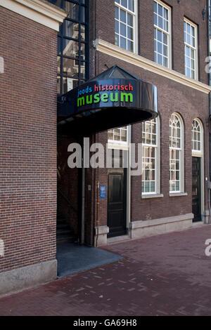 Actueel Widerstandsmuseum Museum oder jüdische Historische Museum, Amsterdam, Niederlande, Europa - Stockfoto