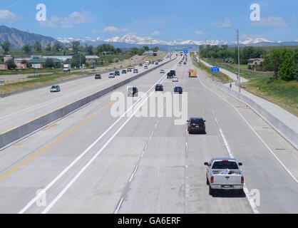US-36 Express Lanes (öffentlich/privat) Fertigstellung 2016, die express-Lane (links) ist für hohe Auslastung Fahrzeuge, - Stockfoto