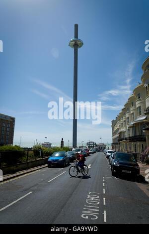 Brighton, UK. 4. August 2016. Tag der British Airways 360i in Brighton, UK zu starten. Schlankesten hohen Turm der - Stockfoto