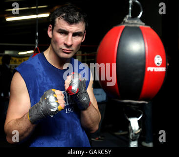 Boxen - Joe Calzaghe Open Training - Abercarn - Stockfoto