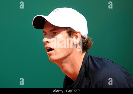 Großbritanniens Andy Murray im Einsatz gegen Serbiens Novak Djokovic