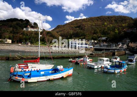 Der Hafen von Lynmouth, Devon. - Stockfoto