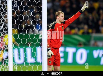 Torwart Manuel Neuer, internationalen Fußballspiel, Deutschland - Italien 1:1, Signal Iduna Park, Dortmund, Nordrhein - Stockfoto