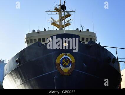 Wladiwostok, Russland. 7. Juli 2016. Der Admiral Makarov Eisbrecher an der Fesco Transportgruppe Pier © ITAR-TASS - Stockfoto
