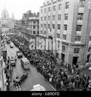 Britische Politik - die Miners Strike - London - 1972 - Stockfoto