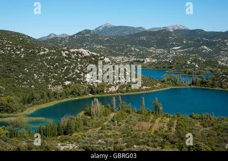 Bacina Seen, Ploce, Dubrovnik-Neretva, Dalmatien, Kroatien - Stockfoto