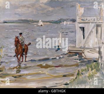 "Bildende Kunst, Slevogt, Max (1868 – 1932), Malerei ""Badehaus an der Havel"" (Badehaus an der Havel), 1912, Reinhart - Stockfoto"