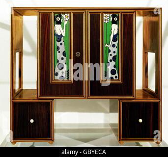 bildende kunst jugendstil m bel stuhl um 1900 holz. Black Bedroom Furniture Sets. Home Design Ideas