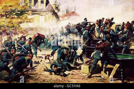 Veranstaltungen, preußisch-französischen Krieg 1870-1871, Belagerung von Paris, 19.9.1870 - 28.1.1871, Skirmish - Stockfoto