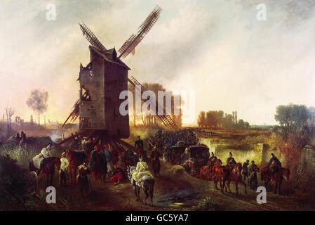 Veranstaltungen, preußisch-französischen Krieg 1870-1871, Belagerung von Paris 19.9.1870 - 28.1.1871, Bayerische - Stockfoto