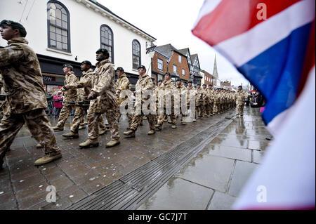 4. Bataillon The Rifles (4 Gewehre) Parade - Stockfoto