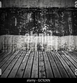 abstrakte dunklen grauen beton raum innenraum mit fliegenden cube 3d hintergrund illustration. Black Bedroom Furniture Sets. Home Design Ideas